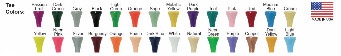 Imprinted Golf Tee Colors