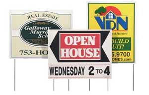 Double Sided Poly Bag Lawn Business Sign