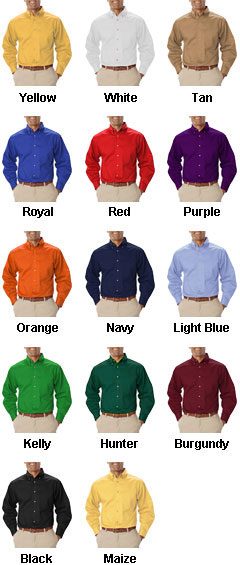 Mens Long Sleeve Teflon Twill Shirt - All Colors