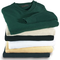 V-Neck Long Sleeve, Pique Stitch Sweaters - All Colors
