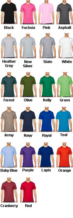 American Apparel Unisex Fine Jersey Short Sleeve T-Shirt - All Colors