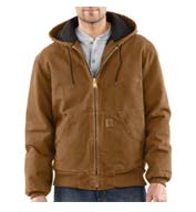 Custom Carhartt Mens Sandstone Active Jacket/Quilted Flannel Lined