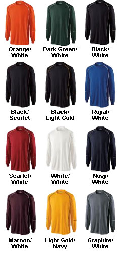 Rival Longsleeve Performance Team Shirt. In Twelve Colors and Sizes Up To 4XL - All Colors