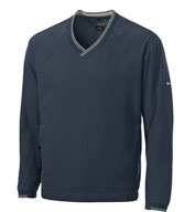 V-Neck Nike Windshirt w/Trimmed Collar