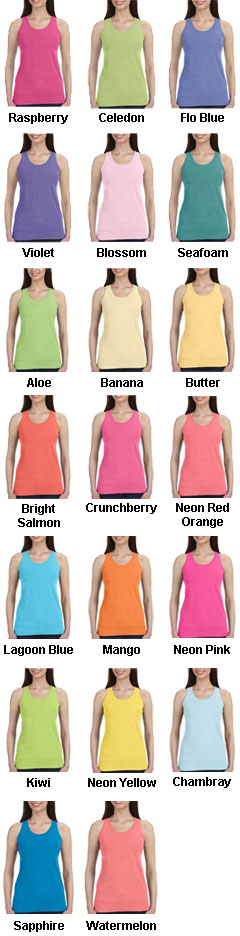 Ladies Pigment Dyed Comfort Colors Tank Top - All Colors
