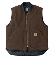 Sandstone Vest With Arctic Quilt Lining