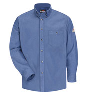 Button Front Denim Dress Uniform Shirt-CAT2