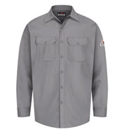 Custom Bulwark® Button Front Work Shirt Mens