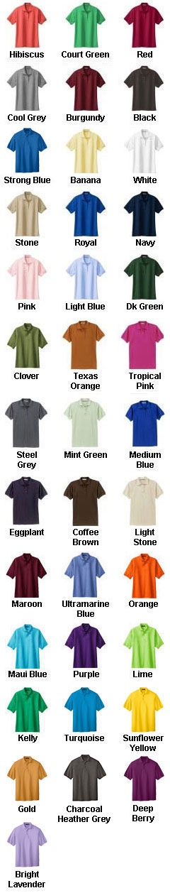 Custom Mens Silk Touch Sport Polo Shirt - All Colors