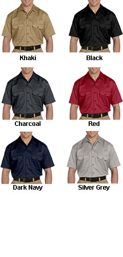 Dickies Mens Short Sleeve Twill Workshirt - All Colors