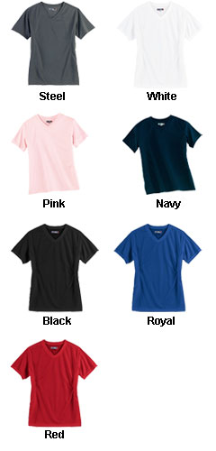 Ladies Dri-Mesh Crossover V-Neck T-shirt - All Colors