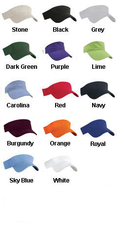 Washed Cotton Twill Visor - All Colors