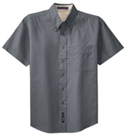 Custom Mens Easy Care, Wrinkle Resistant Short Sleeve Shirt