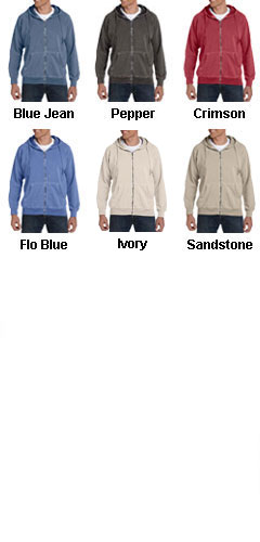 100% Garment-Dyed Full-Zip Hood - All Colors