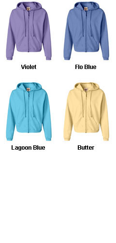 Garment-Dyed Ladies Full-Zip Hood - All Colors
