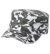 Camouflage Cotton Twill Distressed Cap