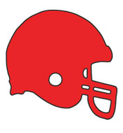 Football Helmet SportsShape Colorplast Sign