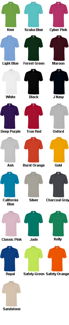 Jerzees Mens 50/50 Jersey Knit Polo with SpotShield� - All Colors