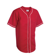 Youth 6-Button Baseball Jerseys with Sewn-On Braid