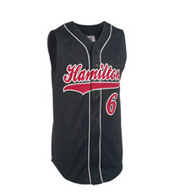 Custom Youth Sleeveless Pro Weight 6-Button Baseball Jersey