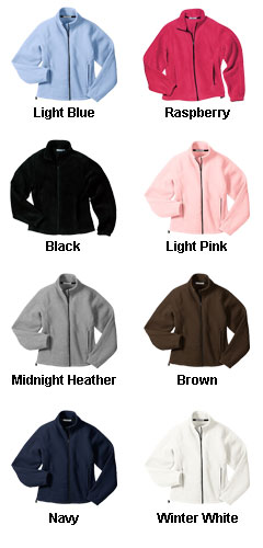 Ladies Fleece Full Zip Jacket - All Colors