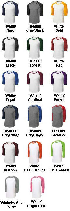 Youth Colorblock Raglan Jerseys - All Colors