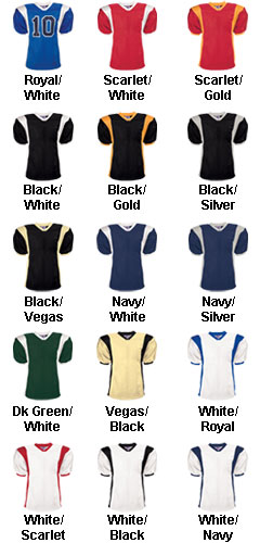 Youth Striped Steelmesh Football Jersey - All Colors