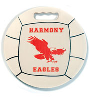 Custom Volleyball Round Ball Stadium Seat Cushions For Bleachers