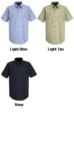 Mens Short Sleeve Work N Motion Shirt - All Colors