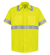 ANSI 107-2004 Class 2 Level 2 Compliant Hi-Visibility Shirt