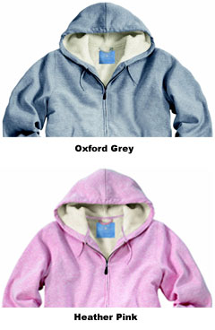 Womens Sherpa Hooded Sweatshirt by Charles River Apparel - All Colors