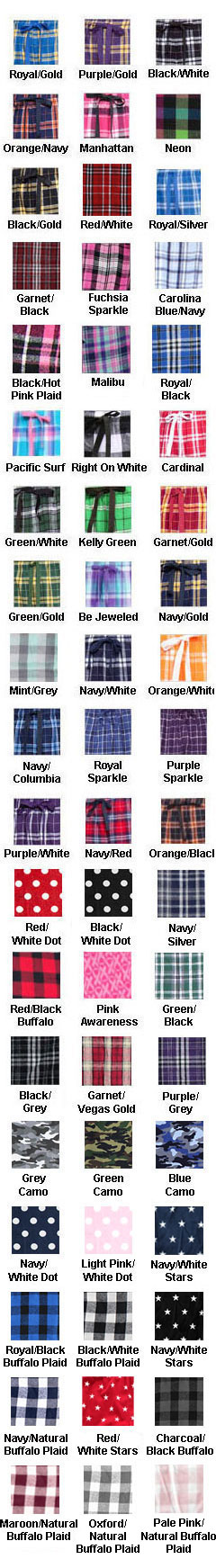 Youth Drawstring Flannel Pants - All Colors