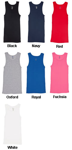 Girls Youth Ribbed Boy Beater Tank - All Colors