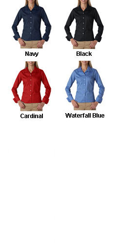 UltraClub Ladies Stain Resitant Whisper Elite Twill Shirt - All Colors