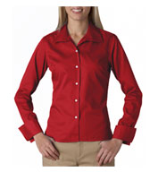 UltraClub Ladies Stain Resitant Whisper Elite Twill Shirt
