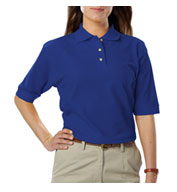 Ladies Teflon Treated Pique Polo NO Pocket