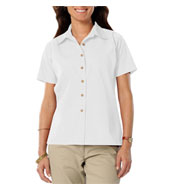 Custom Ladies Short Sleeve Teflon Twill Shirt
