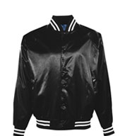 Youth Pro-Satin Jacket with Striped Trim - Flannel Lined