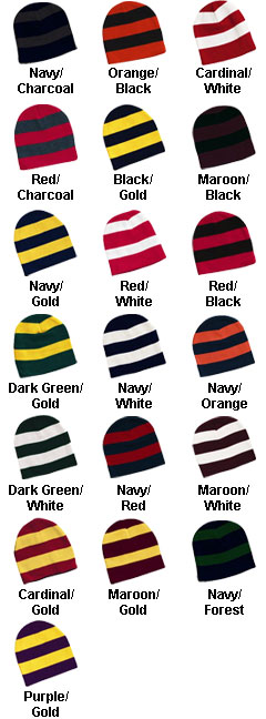 Sportsman Rugby Striped Knit Beanie - All Colors