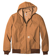 Custom Carhartt Duck Active Jacket Water Repellent w/Thermal Lined Mens