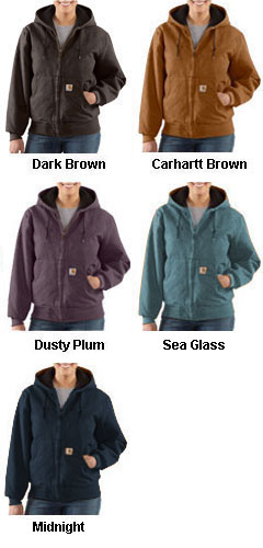 Carhartt Womens Sandstone Active Jacket/Quilted Flannel Lined - All Colors