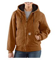 Custom Carhartt Women's Sandstone Active Jacket/Quilted Flannel Lined