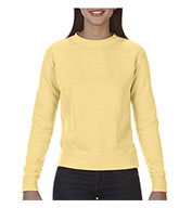 Custom Comfort Colors Womens Garment-Dyed Wide-Band Crew Neck Fleece