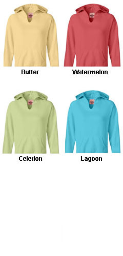 Comfort Colors Womens Garment-Dyed Front-Slit Hooded Fleece - All Colors