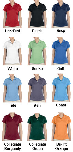 Adidas Golf Ladies ClimaLite� Textured Short-Sleeve Polo - All Colors