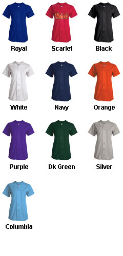 Girls Champion Full Button Jersey - All Colors