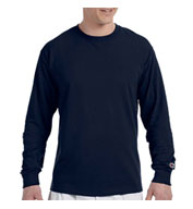 Champion 100% Jersey Long Sleeve Tagless Tee