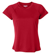 Champion Ladies Wicking V-Neck Tee