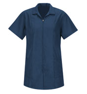 Womens Zipper Front Smock