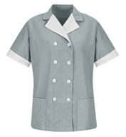 Womens Double-Breasted Lapel Tunic